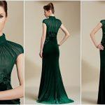 robe de soirée couleur verte
